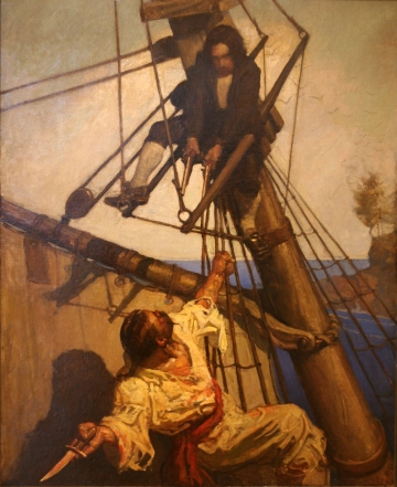 NCWyeth Treasure Island One more step Mr. Hands and I blow out your brains