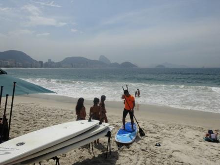 Leçon de Standing Paddle en septembre à Rio