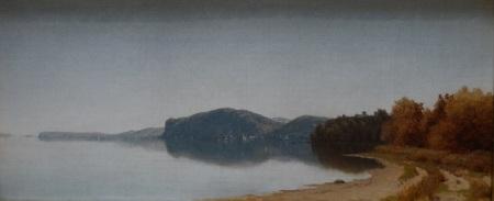 Sanford Robinson Gifford, Hook Mountain, sur l'Hudson, 1866