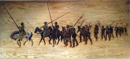 De Soto et ses hommes à travers le continent