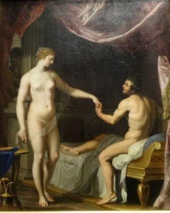 La femme de Candaule, le roi et Gygès, par Jacques Stella