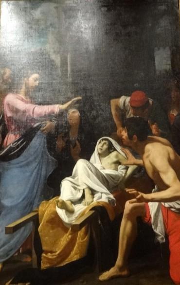 Le Christ ressuscitant un enfant, Fiasella
