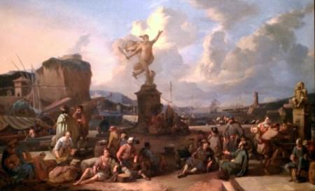 Port imaginaire, Johannes Lingelbach, 1667