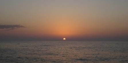 En mer, coucher de soleil
