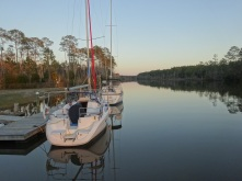 Ponton sur le waterway