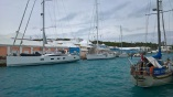 La taille des bateaux aux Bermudes, Thula Thula est le troisième au fond