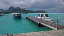Aéroport de Bora Bora, sur un motu (île)