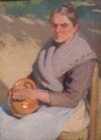Femme se chauffant les mains, 1900