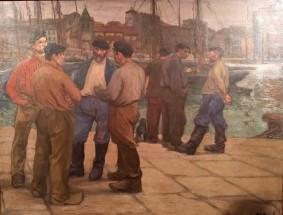 Pêcheurs sur le port de Gijon, 1906