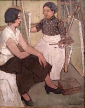 Edmée Larnaudie, Ma soeur dans l'atelier de F. Sabatté, 1935