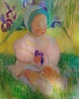 Geneviève Duboul, Enfant dans l'herbe, 1936