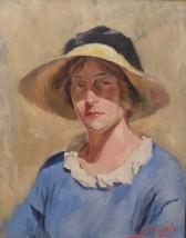 Luce Boyals, autoportrait, 1920
