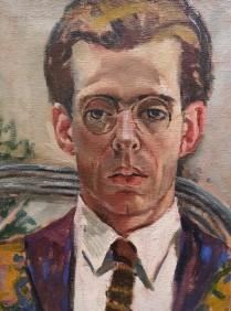 Luce Boyals, Portrait de Georges Gaudion aux lunettes rondes, 1920