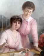 Marguerite Loubat, Portrait avec ma sœur, 1916