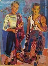 Renée Aspe, Pêcheurs aux filets, 1950
