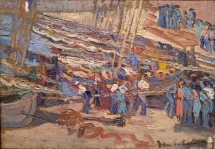 Sébastienne Marre, Pêcheurs à Collioure,1935