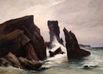 Aiguille de Port Coton, Belle Île, Léon Le Goaësbe de Bellée