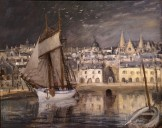 Jean Frelaut, Port de Vannes avec goélette blanche